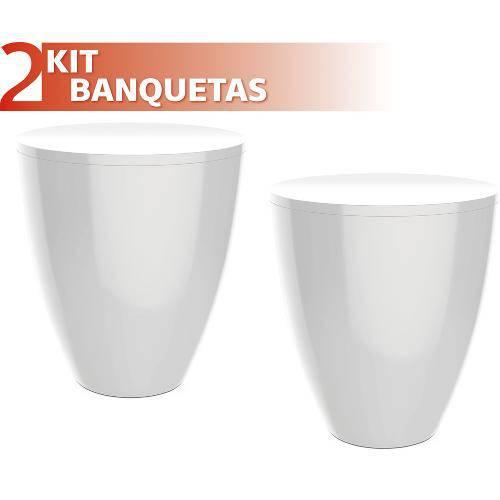 Kit 2 Banquetas Moly Color Branco