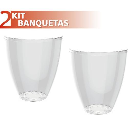 Kit 2 Banquetas Moly Color Cristal