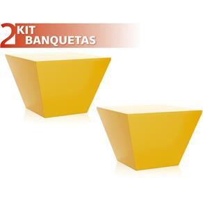 Kit 2 Banquetas Neo Color - Amarelo Ouro