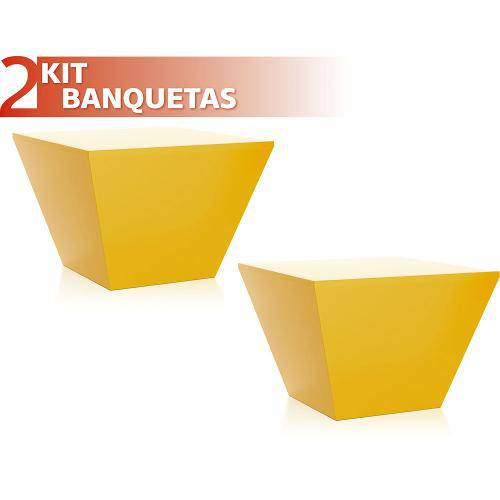 Kit 2 Banquetas Neo Color Amarelo