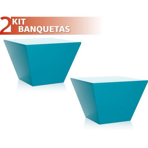 Kit 2 Banquetas Neo Color Azul