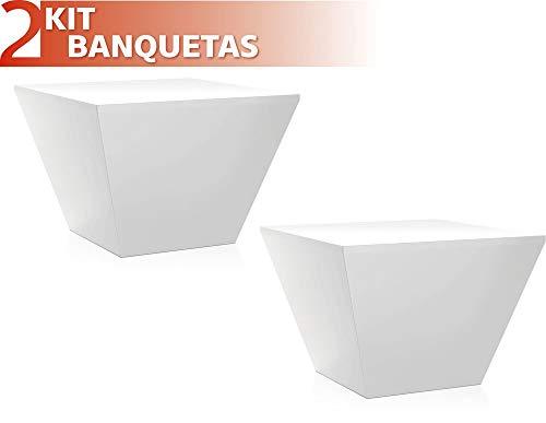 Kit 2 Banquetas Neo Color Branco