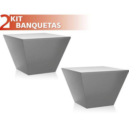 Kit 2 Banquetas Neo Color Cinza