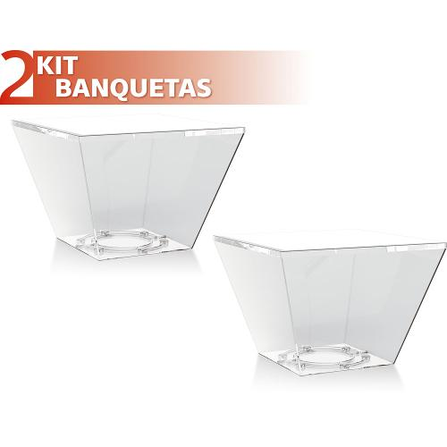 Kit 2 Banquetas Neo Color Cristal