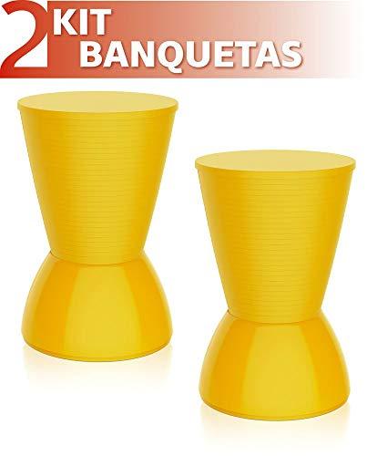 Kit 2 Banquetas Nick Color Amarelo