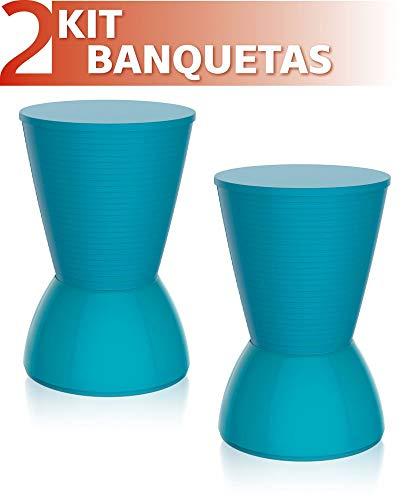 Kit 2 Banquetas Nick Color Azul