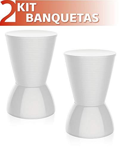 Kit 2 Banquetas Nick Color Branco