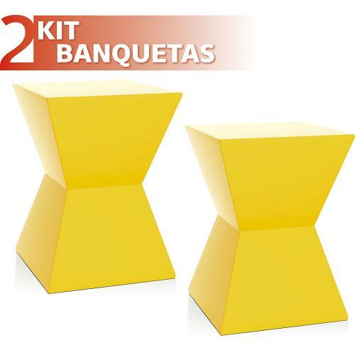 Kit 2 Banquetas Nitro Color Amarelo