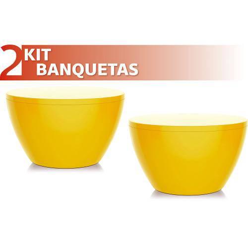 Kit 2 Banquetas Oxy Color Amarelo