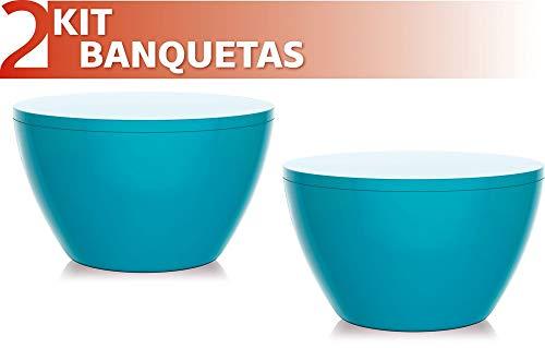 Kit 2 Banquetas Oxy Color Azul