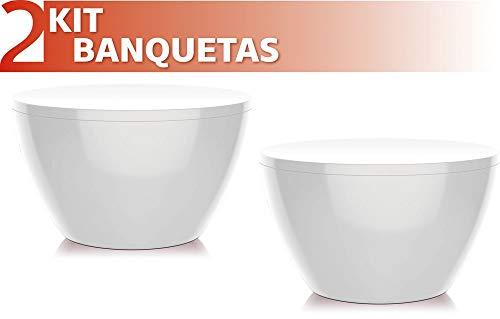 Kit 2 Banquetas Oxy Color Branco