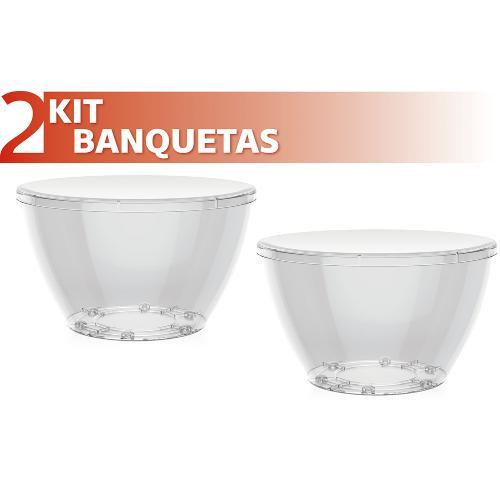 Kit 2 Banquetas Oxy Color Cristal