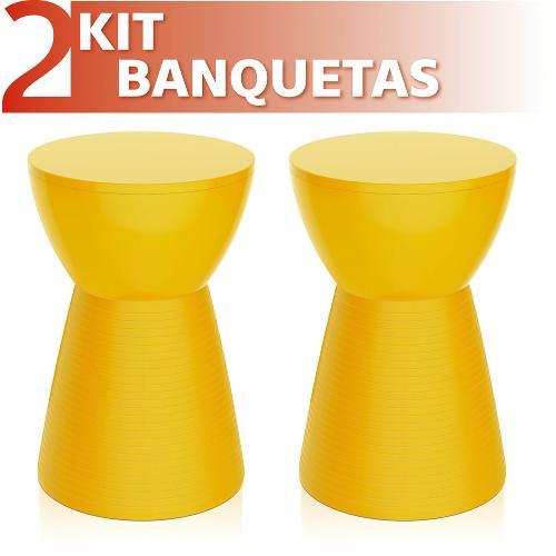 Kit 2 Banquetas Sili Color Amarelo
