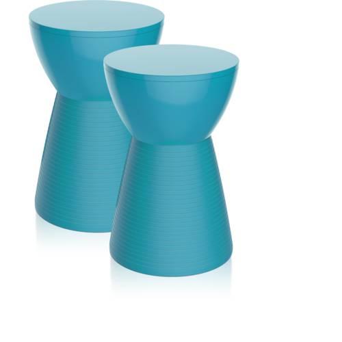 Kit 2 Banquetas Sili Color Azul