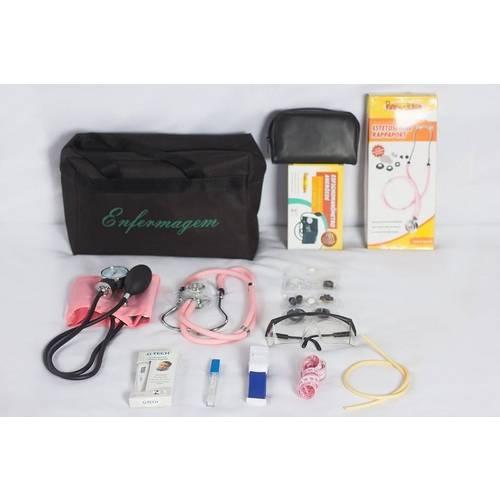 Kit Básico de Enfermagem Rosa Premium