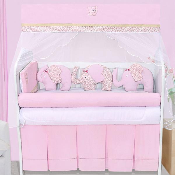 Kit Berço Elefante Rosa - Precious Baby