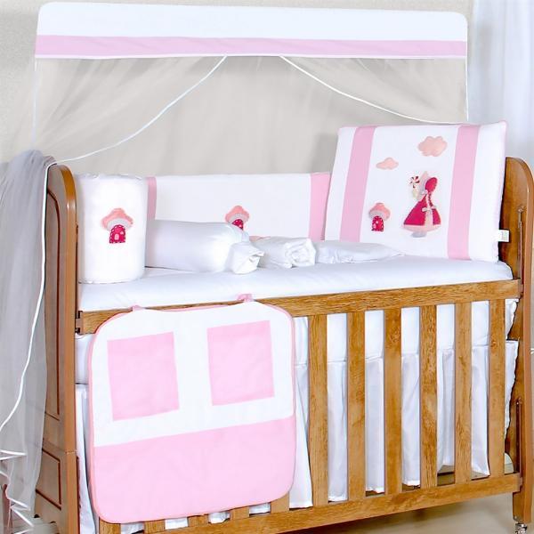 Kit Berço Jardineira Rosa - Precious Baby