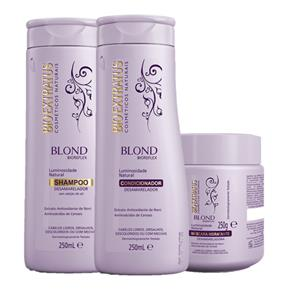Kit Blond Biorefex Shampoo 250ml+Condicionador 250ml+Máscara 250g Bio Extratus