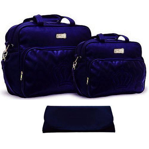Kit Bolsa Maternidade Azul Marinho Trocador B20W01