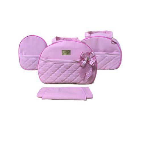 Tudo sobre 'Kit Bolsa Maternidade Baby Rosa - 04 Peças'