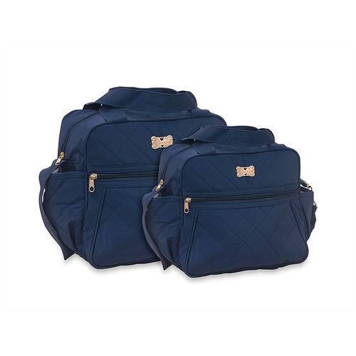 Kit Bolsa Maternidade Bebe Menino Azul Marinho 1031-32