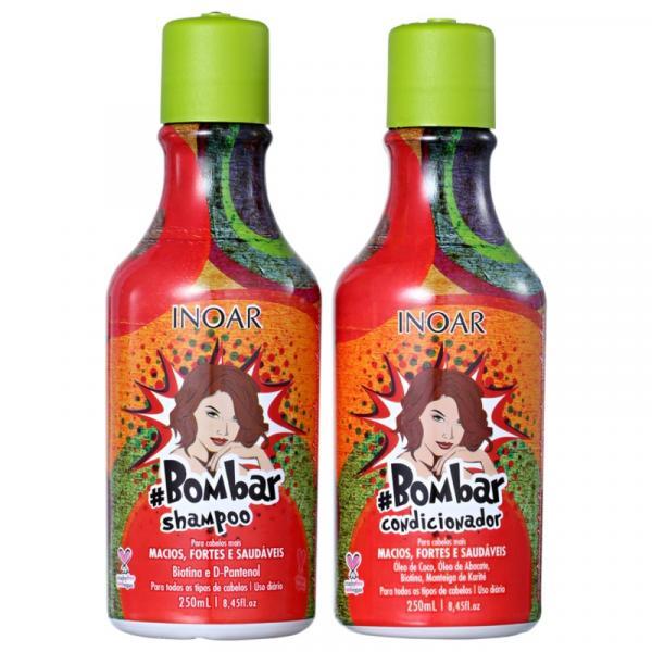 Kit Bombar Inoar Shampoo e Condicionador 250ml