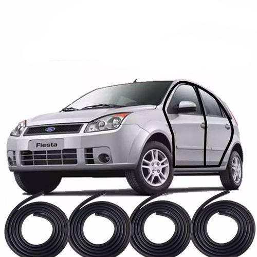Kit Borrachas Vedação 4 Portas Fiesta Hatch Sedan 2002 Até 2013