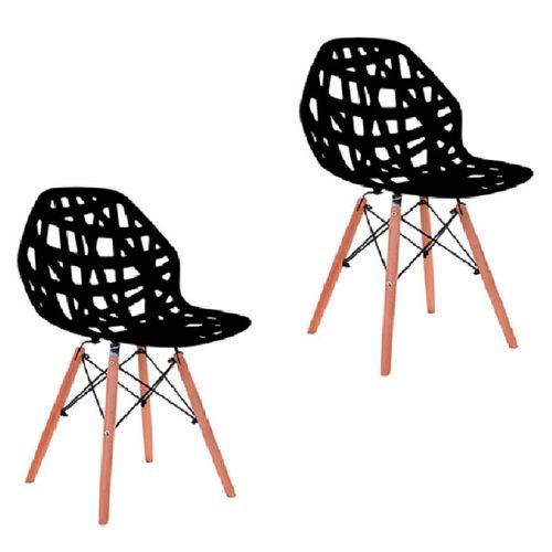 Kit 2 Cadeiras Akron Preta