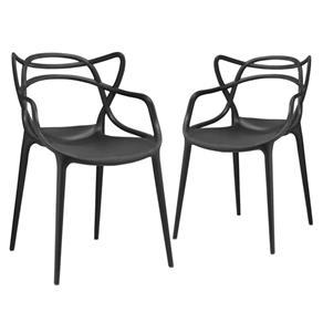Kit 2 Cadeiras Allegra - PRETO