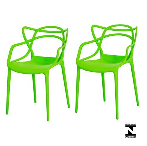 Kit 2 Cadeiras Allegra Verde