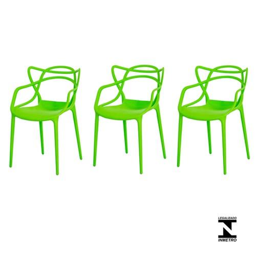 Kit 3 Cadeiras Allegra Verde