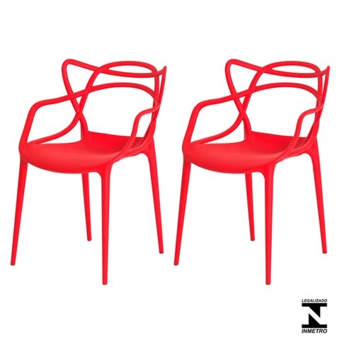 Kit 2 Cadeiras Allegra Vermelha