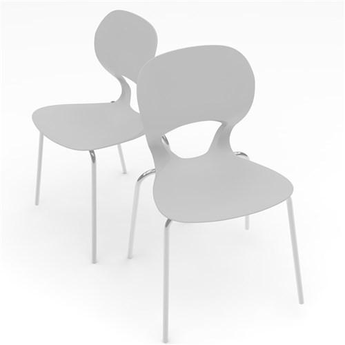 Kit 2 Cadeiras Eclipse Branco I´M In