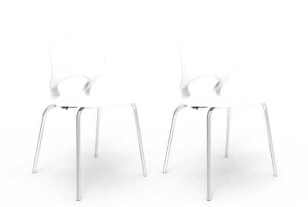 Kit 2 Cadeiras Eclipse Branco - Im In