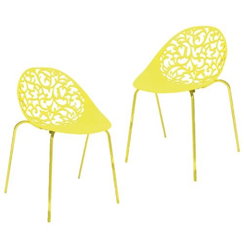 Kit 2 Cadeiras Fiorita Amarelo I´M In