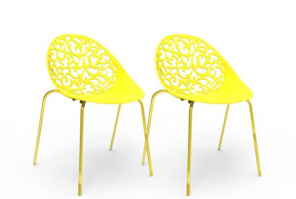 Kit 2 Cadeiras Fiorita Amarelo - Im In