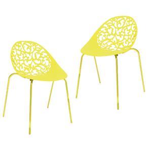 Kit 2 Cadeiras Fiorita - Amarelo