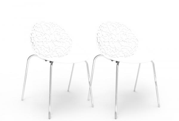 Kit 2 Cadeiras Fiorita Branco - Im In