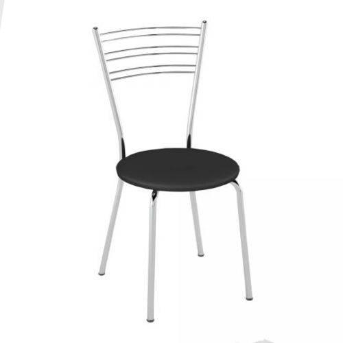 Kit 2 Cadeiras PC050001 Assento Preto - Pozza