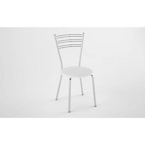 Kit 2 Cadeiras PC050012 Assento Branco - Pozza