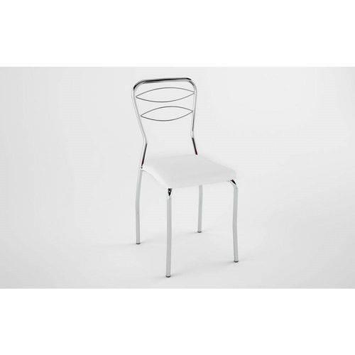 Kit 2 Cadeiras PC110012 Assento Branco - Pozza