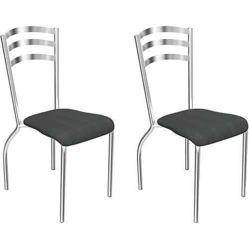 Tudo sobre 'Kit 2 Cadeiras Gruvyer em Polipropileno Preta'