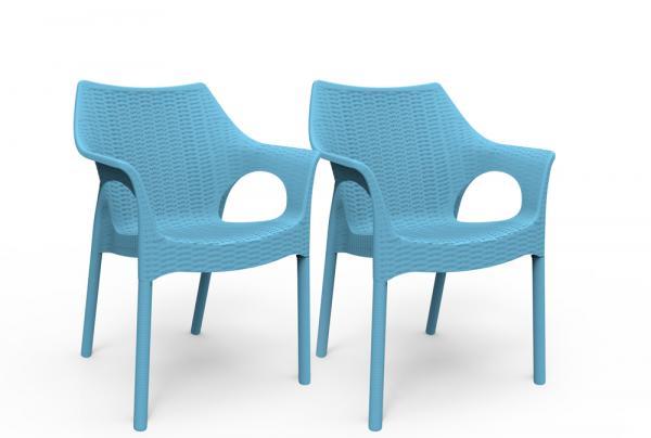 Kit 2 Cadeiras Relic Azul Índigo - Im In