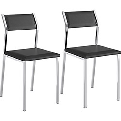 Tudo sobre 'Kit 2 Cadeiras Sofia 1709 Preta Carraro'