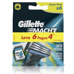 Kit Carga Gillete Mach 3 Regular Leve 6 Pague 4