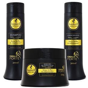 Kit Cavalo Forte Shampoo Condicionador e Máscara - Haskell