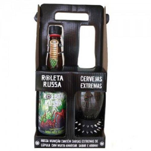 Tudo sobre 'Kit Cerveja Roleta Russa 500 Ml +copo'