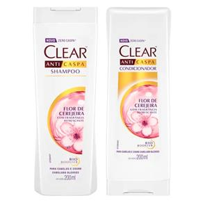 Kit Clear Woman Flor de Cerejeira Shampoo 200ml + Condicionador 200ml