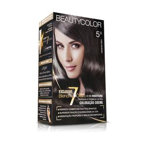 Kit Coloração Permanente BeautyColor Castanho Claro 5.0