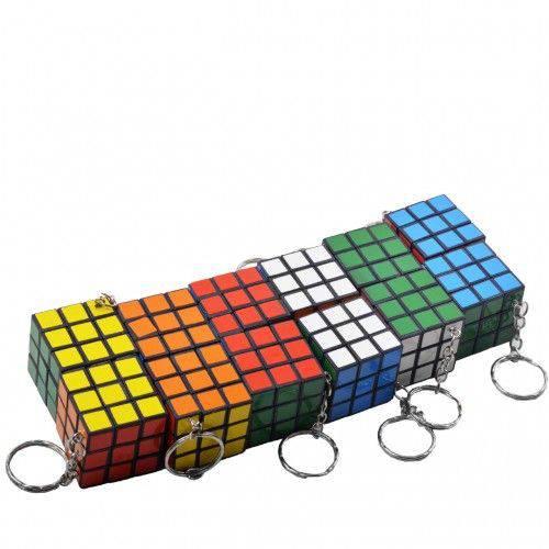 Tudo sobre 'Kit com 12 Chaveiros Cubo Mágico'